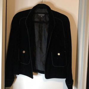 Chanel crushed velvet black blazer - size 40